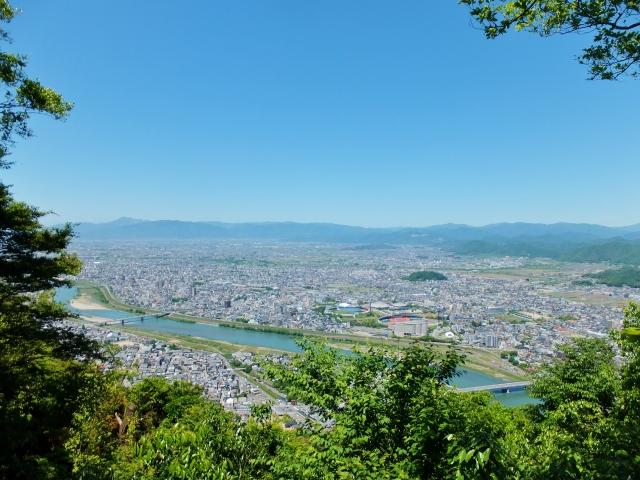 岐阜城から見た岐阜市全体の景色写真
